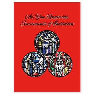 Blessings as You Receive the Holy Sacraments of Initiation RCIA Full Initiation Card - Unique Catholic Gifts