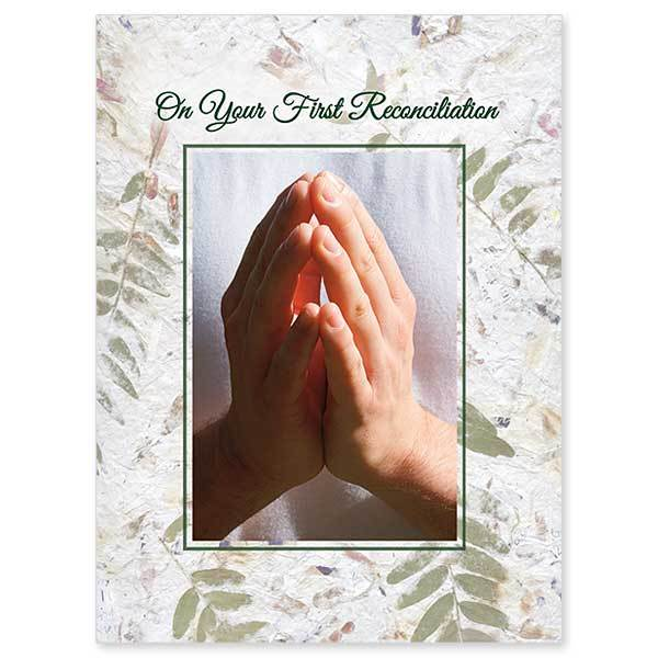 On Your First Reconciliation First Reconciliation Card - Unique Catholic Gifts