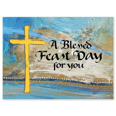 A Blessed Feast Day for You Feast Day Card - Unique Catholic Gifts