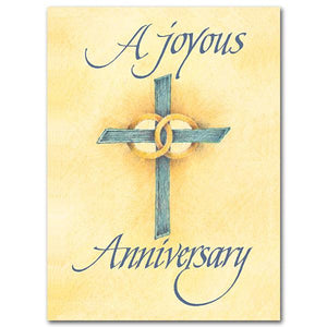 "A Joyous Anniversary Wedding Anniversary Card ( 5.93"" X 4.38"") - Unique Catholic Gifts"