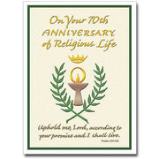 "On Your 70th Anniversary of Religious Life Religious Profession Anniversary Card (4.375"" X 5.938"""