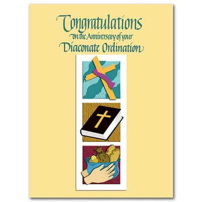 On the Anniversary of your Diaconate Ordination Deacon Ordination Anniversary Card - Unique Catholic Gifts