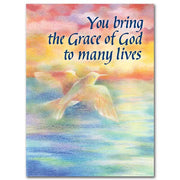 You Bring the Grace of God to Many Lives Birthday Greeting Card - Unique Catholic Gifts