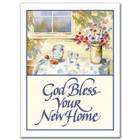 "God Bless Your New Home New Home Card (4.375 x 5.9375"") - Unique Catholic Gifts"
