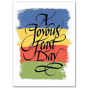 A Joyous Feast Day Feast Day Card - Unique Catholic Gifts