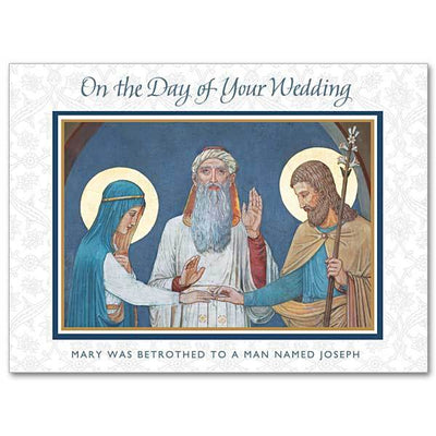 On the Day of Your Wedding Wedding Congratulations Card - Unique Catholic Gifts