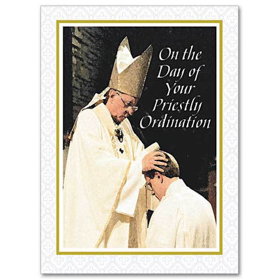 Preaching the Gospel and Renewing the Faithful Ordination Congratulations Card - Unique Catholic Gifts