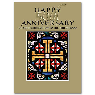 Happy 50th Anniversary of Your Ordination To The Priesthood 50th Anniversary of Ordination Card - Unique Catholic Gifts