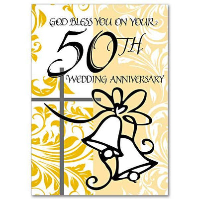 God Bless You on Your 50th Wedding Anniversary 50th Wedding Anniversary Card