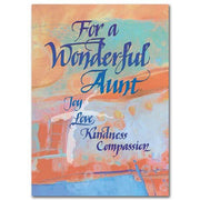 For a Wonderful Aunt Family Birthday Card