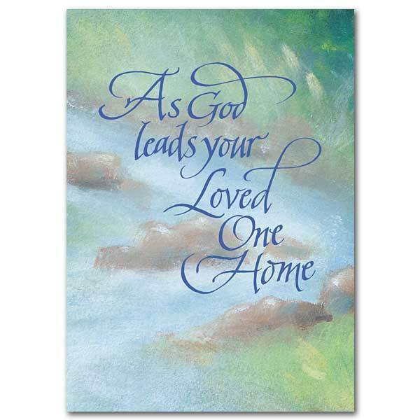 As God Leads Your Loved One Home Sympathy Card