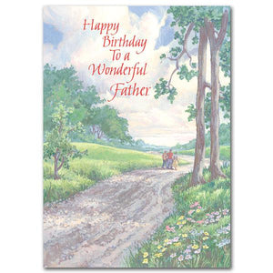Happy Birthday to a Wonderful Father Birthday Card ( 5 x 7 ) - Unique Catholic Gifts