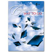 Congratulations Way to Go Graduation Greeting Card - Unique Catholic Gifts
