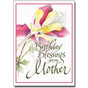 Birthday Blessings for My Mother Birthday Card - Unique Catholic Gifts