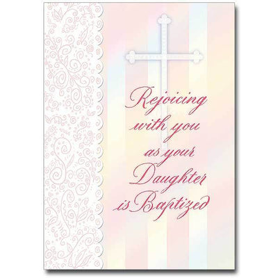 Rejoicing with You as Your Daughter Is Baptized Daughter Baptism Card