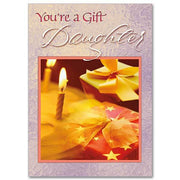 You're a Gift, Daughter Family Birthday Card for Daughter - Unique Catholic Gifts