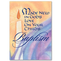 Made New in God's Love Baptism Card for a Child - Unique Catholic Gifts