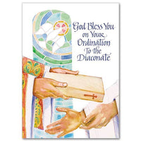 God Bless You on Your Ordination To the Diaconate Deacon Congratulations Card - Unique Catholic Gifts