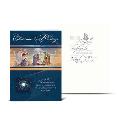 Christmas Blessings Nativity Greeting Cards