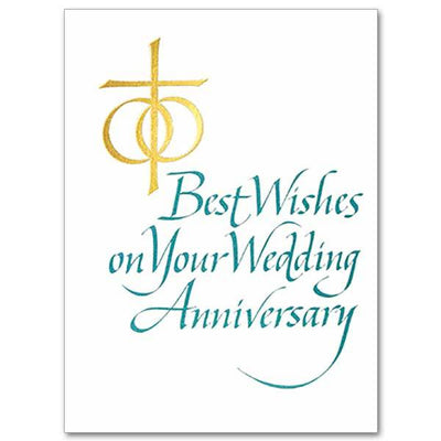 Best Wishes on Your Wedding Anniversary Wedding Anniversary Card - Unique Catholic Gifts