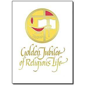 "Golden Jubilee of Religious Life Religious Profession Anniversary Card (5.93"" by 4.38"") - Unique Catholic Gifts"