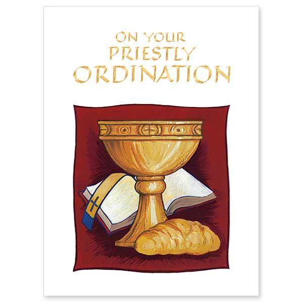 On Your Priestly Ordination Ordination Congratulations Card - Unique Catholic Gifts