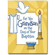 For You Grandson (Baptism) Grandson Baptism Card