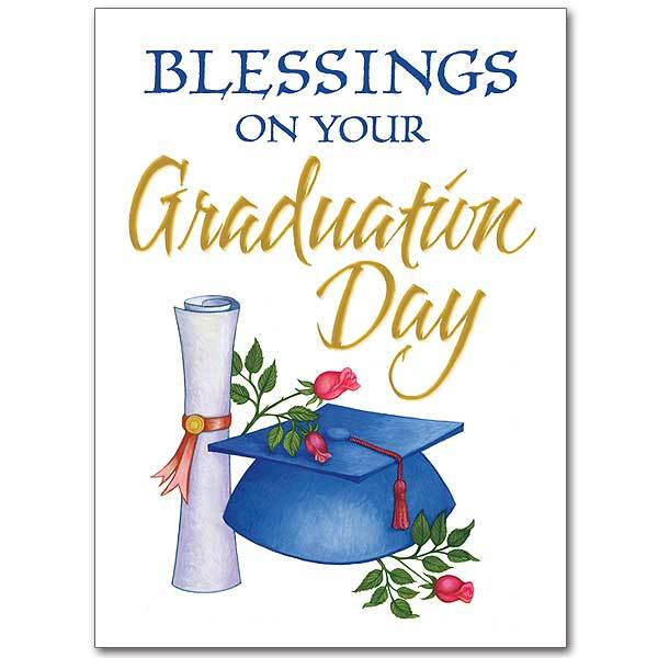 Blessings on Your Graduation Day Graduation Card - Unique Catholic Gifts