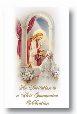 Communion Girl Invitation - Unique Catholic Gifts