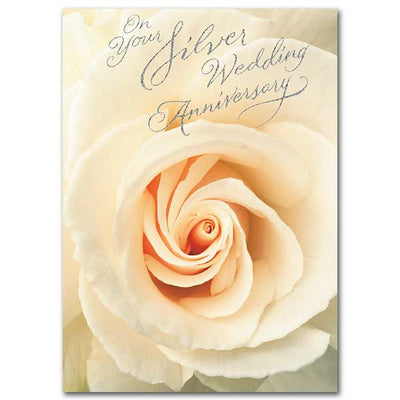 On Your Silver Wedding Anniversary 25th Wedding Anniversary Card - Unique Catholic Gifts