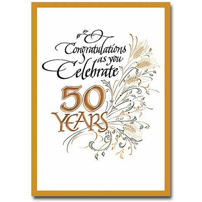 Congratulations as You Celebrate 50 Years - Unique Catholic Gifts