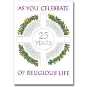 As You Celebrate 25 Years of Religious Life Religious Profession Anniversary Card - Unique Catholic Gifts