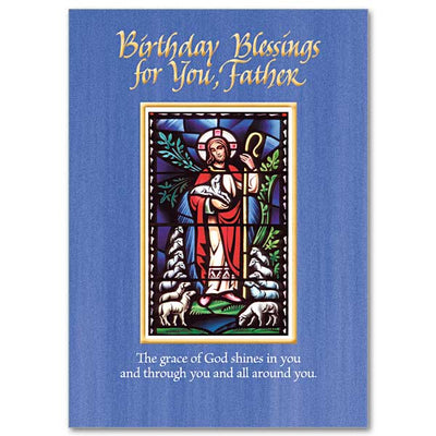 Birthday Blessings for You, Father Birthday Card for Priest - Unique Catholic Gifts