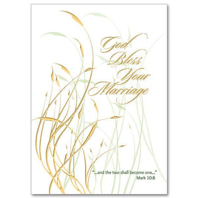 God Bless Your Marriage Wedding Congratulations Card - Unique Catholic Gifts