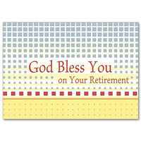 God Bless You on Your Retirement Retirement Card (Feminine) - Unique Catholic Gifts