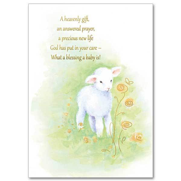 A Heavenly Gift, An Answered Prayer Baby Congratulations Card - Unique Catholic Gifts