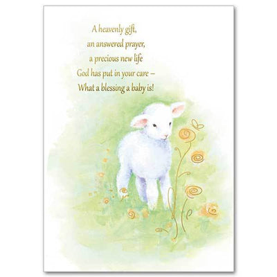 A Heavenly Gift, An Answered Prayer Baby Congratulations Card