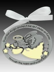 Crib Medal: Guardian Angel Glow in Dark - Unique Catholic Gifts