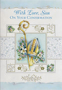 With Love Son On Your Confirmation Greeting Card - Unique Catholic Gifts