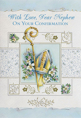 With Love, Dear Nephew On Your Confirmation Greeting Card - Unique Catholic Gifts