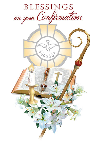 Blessings on your Confirmation Greeting Card - Unique Catholic Gifts