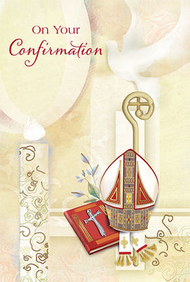 On Your Confirmation Greeting Card - Unique Catholic Gifts