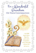 For a Wonderful Grandson on your Confirmation Greeting Card - Unique Catholic Gifts