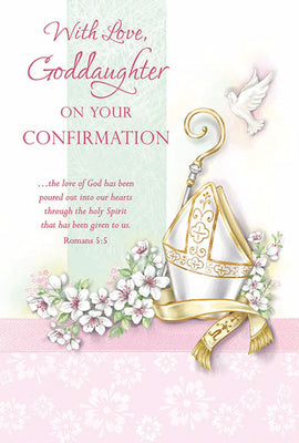 With Love Goddaughter on your Confirmation Greeting Card - Unique Catholic Gifts