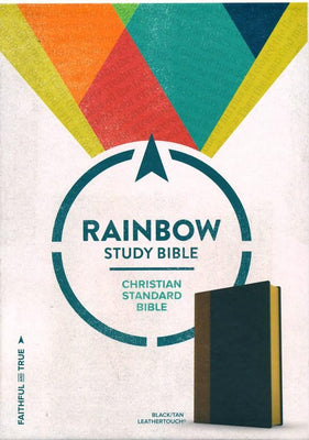 CSB Rainbow Study Bible, Black and Tan LeatherTouch