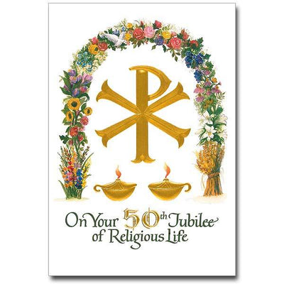 On Your 50th Jubilee of Religious Life Religious Profession Anniversary Card (5.5 x 8