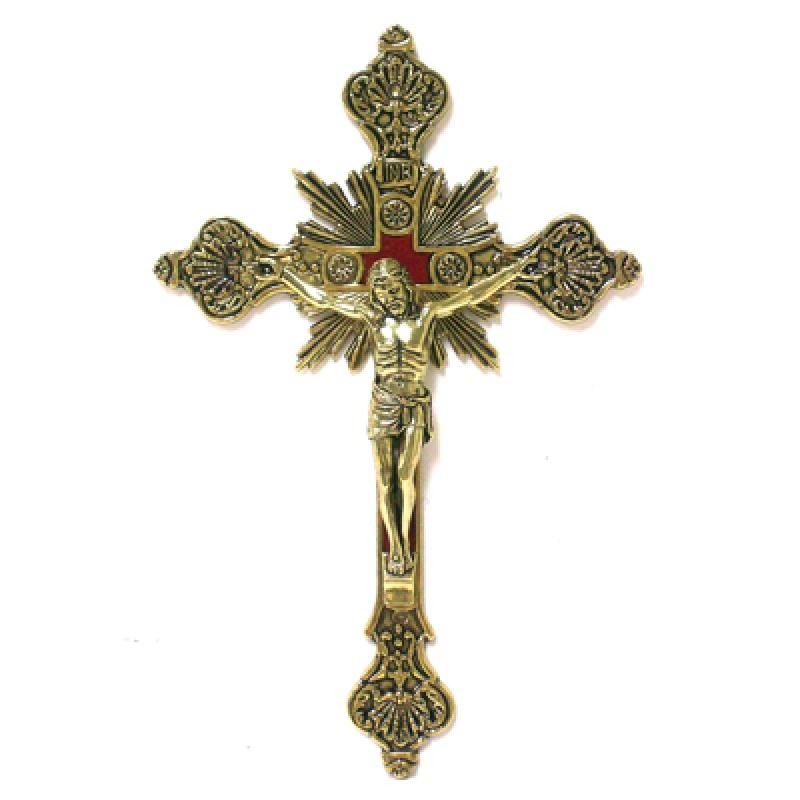 "Gold Wall Crucifix 12"" - Unique Catholic Gifts"