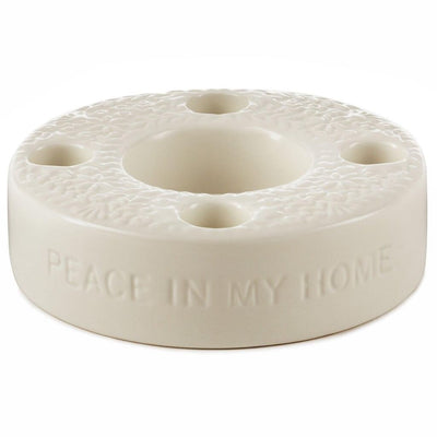 Ceramic Advent Wreath Candle Holder Ceramic Advent Wreath Candle Holder