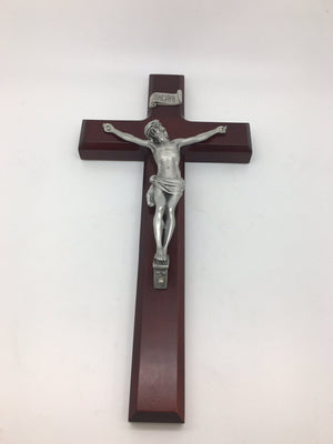 Cherry Wood Crucifix (11