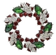 "Christmas Wreath Storybook Pin (2"")"